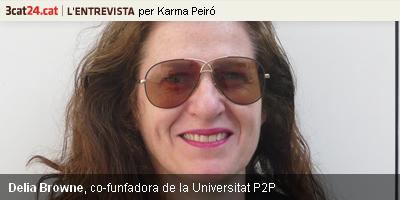 Delia Browne promou el projecte P2P University