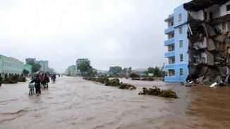Inundacions a Corea del Nord (APTN)