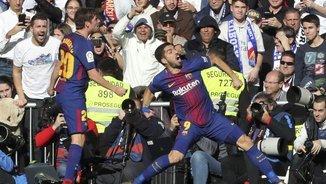 Luis Suárez celebra el seu gol (EFE)
