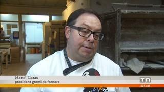 El gremi de forners de Lleida regala el pa de tot l'any al primer nadó del 2018
