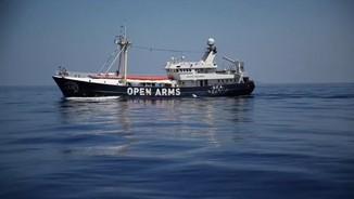 El vaixell humanitari de l'ONG Proactiva Open Arms