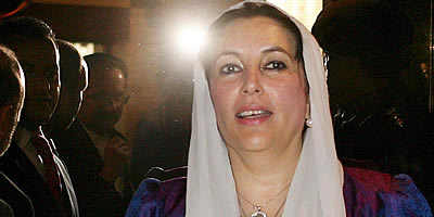Benazir Bhutto, a Islamabad (Foto: EFE)