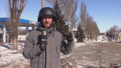 L'equip de TV3 comprova que la treva no s'està complint a Debàltseve