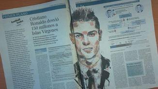"""Informació a les pàgines centrals del diari """"El Mundo"""" sobre Cristiano Ronaldo"""
