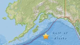 Localització del sisme, segons un mapa del Centre Geològicdels Estats Units (EFE)