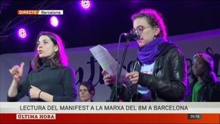 Lectura íntegra del manifest a la marxa del 8M a Barcelona