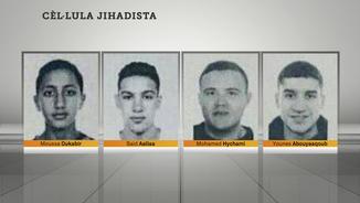 Imatge de les quatre persones identificades pels Mossos