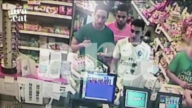 Últimes imatges dels jihadistes abans de l'atac de Cambrils