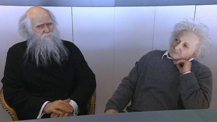 Viaggio a Barcellona. Le statue Einstein e Darwin al Cosmocaixa
