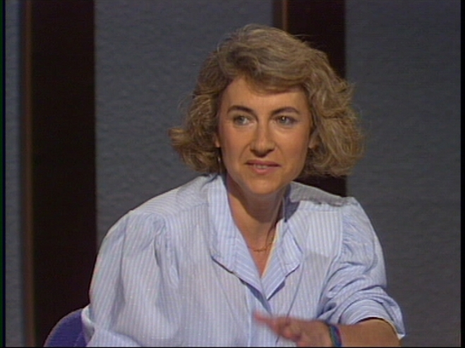 Muriel Casals l'any 1990, en un programa de TV3