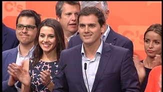 Albert Rivera ha comparegut a Madrid amb Inés Arrimadas