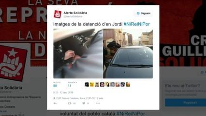 Detinguts tres dels investigats que van cremar fotos del rei per negar-se a declarar a l'Audiència Nacional