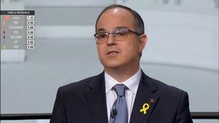 """Turull: """"Les eleccions van de restituir el 139 president de la Generalitat o entrarà el president 155"""""""