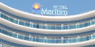 Hotel Marítim de Calella, on ha succeït l'accident.