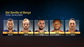 El Sevilla, factoria per al Barça