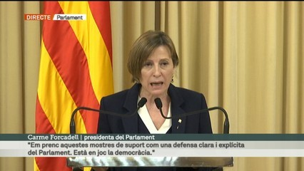 "Forcadell: ""Defensaré on calgui que vaig actuar correctament"""