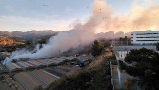 Fum de l'incendi a Sant Feliu de Lobregat (Miguel Ángel Ollero)