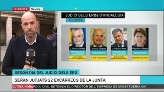 Segona jornada de qüestions prèvies del judici pel cas dels EROs a Andalusia
