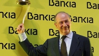 Rodrigo Rato el dia de la sortida a borsa de Bankia.