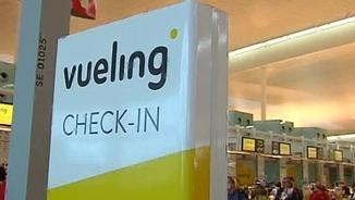 Zona de facturació de Vueling a l'aeroport del Prat