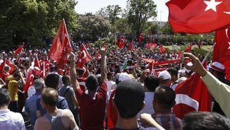 Manifestació a prop del Parlament a Ankara