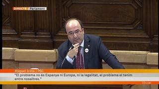 """Miquel Iceta: """"No es pot suspendre la declaració que no ha fet"""""""