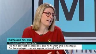 """Elsa Artadi (JxCat): """"El nostre posicionament és el president Puigdemont; qualsevol altra opció és legitimar el 155"""""""