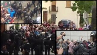 Càrregues policials a Girona, Sant Julià de Ramis i Aiguaviva l'1-O
