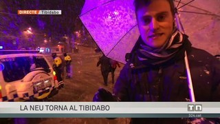 La neu torna al Tibidabo