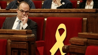 Turull, a l'escó del Parlament (Reuters)