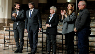 Carles Puigdemont amb els exconsellers a Brussel·les