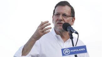 Rajoy, en l'acte a Castelldefels en suport de Xavier García Albiol com a candidat del PPC (EFE)