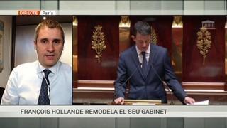 Hollande renova el gabinet pensant en les presidencials
