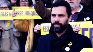 """Torrent a l'homenatge a Junqueras: """"No defallirem ni un segon fins a la seva llibertat"""""""