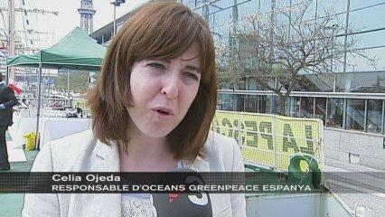 Greenpeace fa campanya a Barcelona per la pesca sostenible