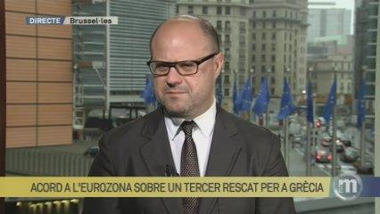 Francesc Serra valora l'acord a l'eurozona sobre un tercer rescat per a Grècia