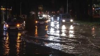 Carrer inundat a Salou