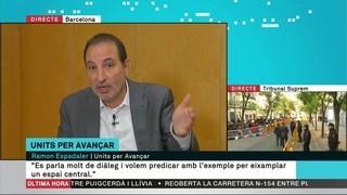 """Espadaler (Units per Avançar): """"Amb el PSC volem eixamplar el centre no frontista"""""""