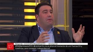 """Iñarritu (EH Bildu): """"Hem vist que a Catalunya no hi ha hagut violència"""""""