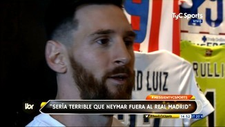 "Messi: ""Neymar al Madrid seria terrible"""