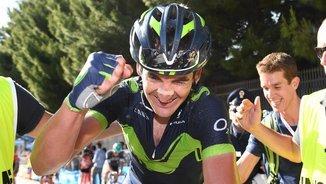 Gorka Izagirre celebra el seu triomf al Giro (EFE)