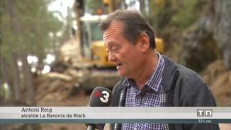 Esllavissades i crescudes dels rius aïllen masies i empreses prop del pantà de Rialb