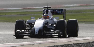 Felipe Nasr amb l'equip Williams al Circuit Internacional de Bahrain (BIC), a Sakhir.