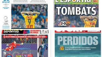 L'eliminació del Barça a la Champions acapara les portades dels diaris