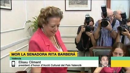 Eliseu Climent, president d'honor d'Acció Cultural del País Valencià, ha valorat la trajectòria de Rita Barberá