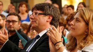 Carles Puigdemont, a l'acte de les Corts de Barcelona