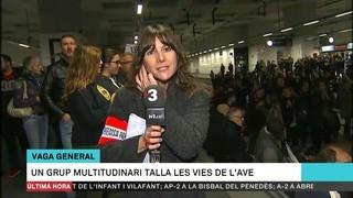 Tallades les vies de l'AVE a Girona