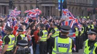 "Incidents a Glasgow entre partidaris del ""sí"" i el ""no"""