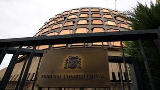 Imatge de la façana del Tribunal Constitucional, aquest 12 de setembre de 2017, durant el ple extraordinari