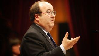 """Miquel Iceta s'ha mostrat sorprès per la proposta de caire """"autonomista"""", ha dit, de Jordi Turull (ACN)"""